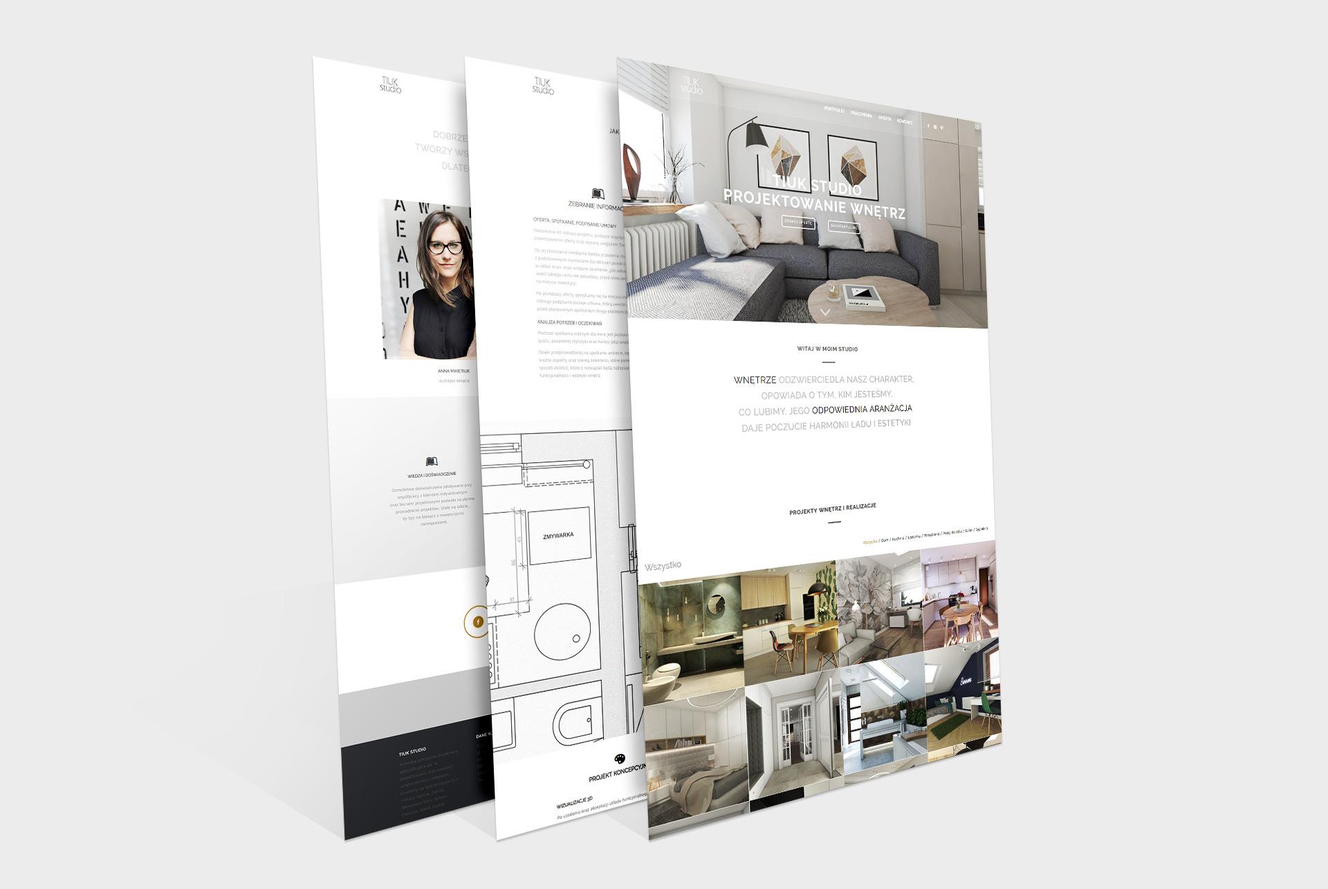 Strona wizytówkowa -Tiuk Studio